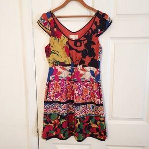 Anthropologie Moulinette Soeurs Silk Dress Sz 4